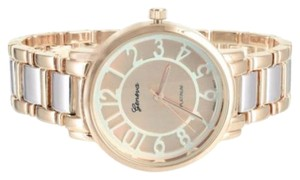 Geneva Platinum Rose Gold Tone Watch Geneva Platinum Womens Jojo Joe Rodeo Jojino Look Elegant