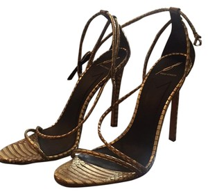 B Brian Atwood Gold Sandals