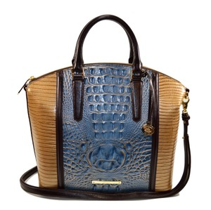 Brahmin Large Duxbury Satchel in Satellite Palma