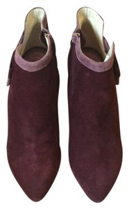 Ojour Burgendy and rose suede Boots