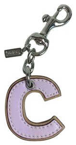 Coach Coach Leather Letter 'C' Key Ring / Fob