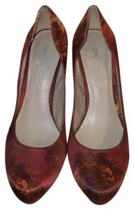 Christian Siriano Stiletto High Heels Orange, Red and Brown Pumps
