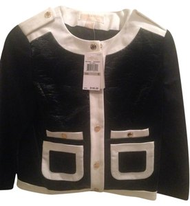 Michael by Michael Kors Gold Hardware Black and White Jacket