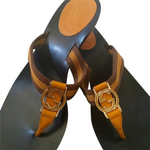 Gucci Orange/Brown Sandals