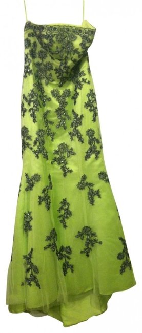 Preload https://img-static.tradesy.com/item/18291/lime-green-and-black-beadedlaced-mermaid-long-formal-dress-size-8-m-0-0-650-650.jpg