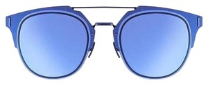 Dior Dior Homme Composit 1.0 Sunglasses Shiny Blue Ruthenium/Blue
