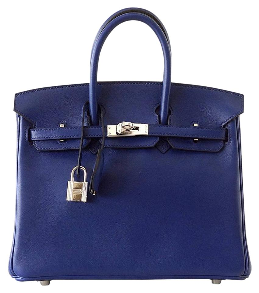a03516d0e09 Hermès Birkin Birkin 25 Sapphire Palladium Swift Leather Tote in Blue Image  0 ...