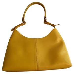 Furla Polished Leather Satchel in Yellow