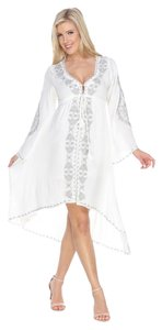 White Mark short dress White Flowy Boho Bohemian Embroidered on Tradesy