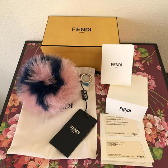 Fendi ABCharm R Fox Fur Letter Bag Bug Key Chain Bag Charm Image 2