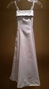 Fanci Fanci Size 8 Silver Flower Girl Dress