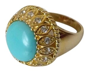 Technibond Technibond Turquoise Dome Ring Size 8