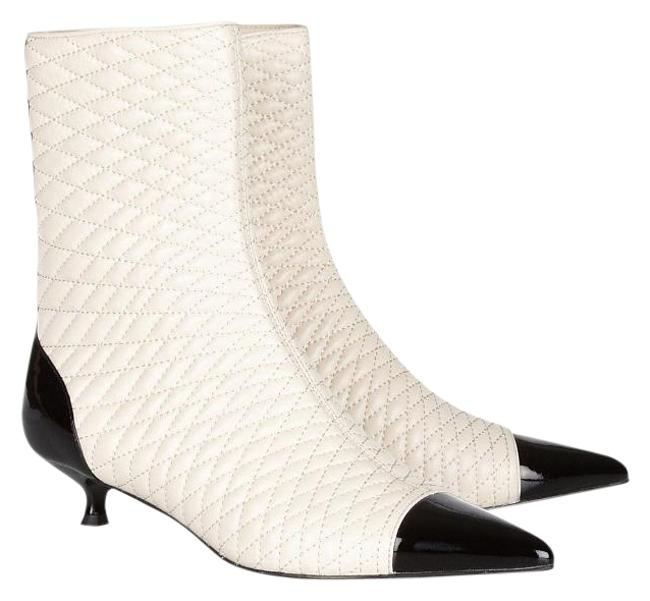 Item - Ivory New Tremona Quilted Leather Ankle Boots/Booties Size EU 36.5 (Approx. US 6.5) Regular (M, B)