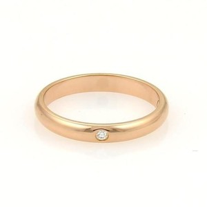 Cartier Cartier Diamond 18k Rose Gold Wedding 2.5mm Band Ring Eu 47-us