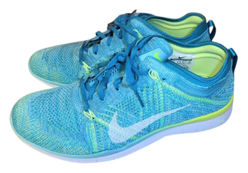 Nike Turquoise Flyknit Free 5.0 Tr Flyknit Turquoise Women's Training Sneakers 141e8e