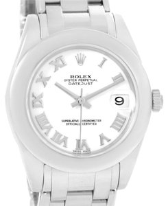 Rolex Rolex Masterpiece Pearlmaster Midsize White Gold Watch 81209