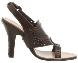 Ted Baker Black Studded Suede Heels brown Mules