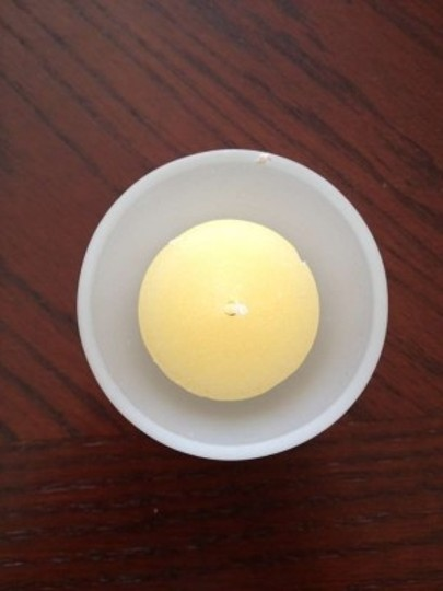 Frosted Glass with Ivory Set Of 12 Votive/Candle