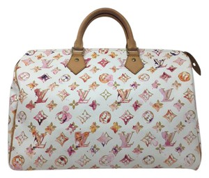 Louis Vuitton Watercolor Richard Prince Speedy Limited Edition Satchel in Multicolor