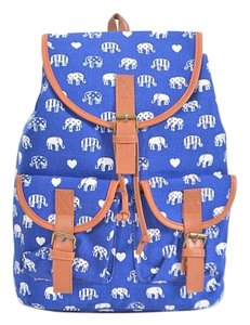 Other Boho Elephant Trendy To School Canvas Backpack