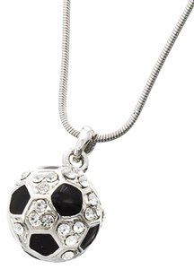 Black & White Soccer Ball Pendant Necklace