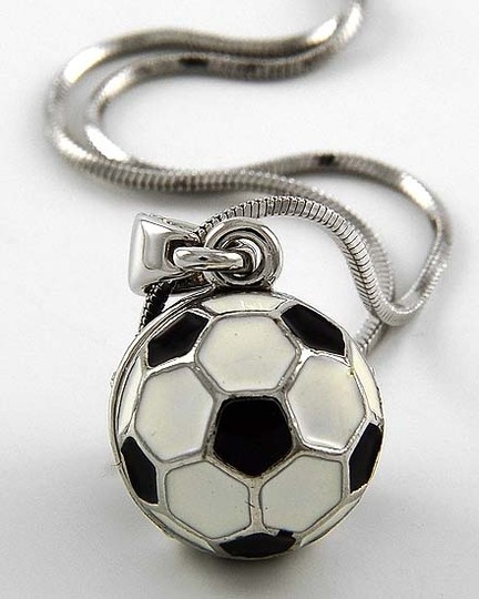 Other Black & White Soccer Ball Pendant Necklace Image 1