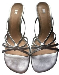 BP. Clothing Simple Silver Sandals