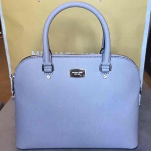 Michael Kors Cindy Large Dome Strap Two Carry Handles Satchel in Lilac