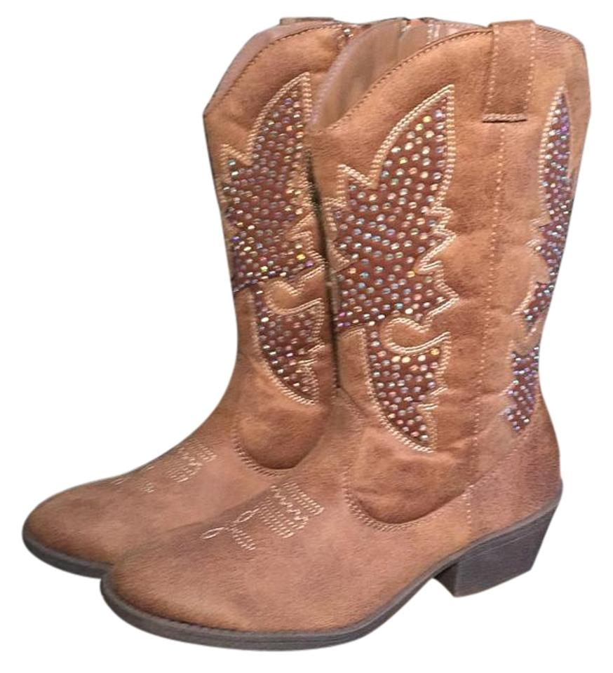 41a70715f71 Justice Camel/Brown Cowboy Boots/Booties Size US 7 Regular (M, B) 46% off  retail
