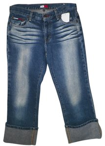 Tommy Hilfiger Recycled Affordable Fashions Capri/Cropped Denim-Medium Wash
