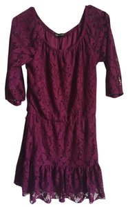 HeartSoul short dress Maroon on Tradesy