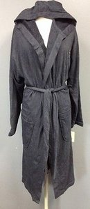 Lucky Brand Lucky Navy Cotton Hooded Belted Long Sleeve Robe Sma 5003