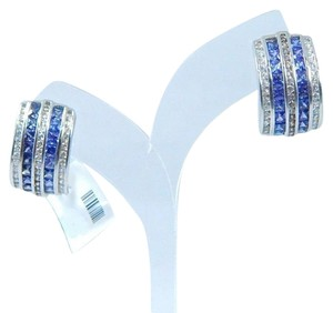 9.2.5 Classy Emerald cut Tanzanite simulant Earring Sterling Silver