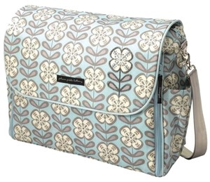 Petunia Pickle Bottom Blue And White Diaper Bag