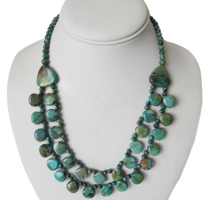 Mine Finds by Jay King Jay King 2-Row Turquoise Drape Necklace 18