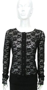A'reve Lace Cardigan Top Black
