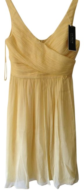 Item - Canary Yellow Chiffon Tall Mid-length Formal Dress Size 8 (M)