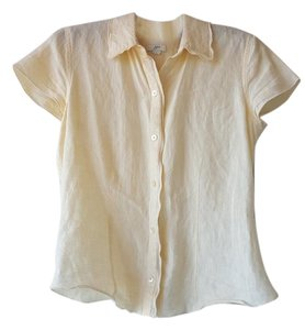 J. Jill Button Down Shirt Cream