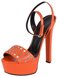 Gucci Heels Orange Sandals