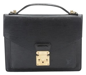 Louis Vuitton Monceau Satchel in Black
