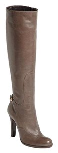 L.K. Bennett Knee High Leather Almond Dark Taupe Boots