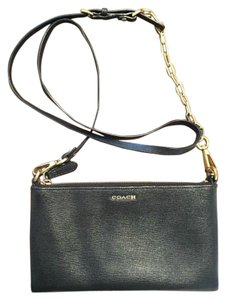 Coach Leather Gold Gold Hardware Cross Body Bag