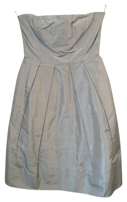 J.Crew Silver Above Knee Formal Dress Size 2 (XS) J.Crew Silver Above Knee Formal Dress Size 2 (XS) Image 1