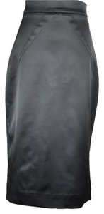 Dolce&Gabbana Pencil Fitted Stretchy High Waist Skirt Black