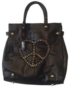 Betsey Johnson Satchel in Black/ Gold Hardware