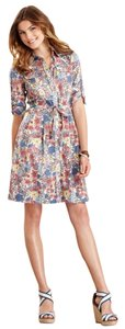 Tommy Hilfiger short dress FLORAL Three Quarter Sleeve Print A-line Shirt Tea on Tradesy