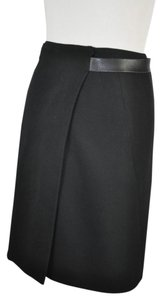 Versus Versace Wrap Around Mini Wool Mini Skirt Black