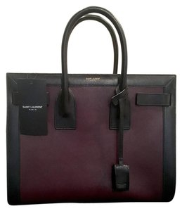 $200 off with code 200XY2 Saint Laurent Ysl Jour Caryall Satchel in Black and Burgundy