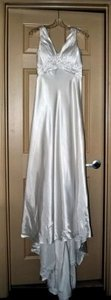 Jasmine Couture Bridal Satin Low-back Empire Waist Wedding Dress