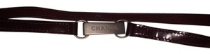 Chanel Chanel Burgundy Red Leather Belt with Gold Buckle